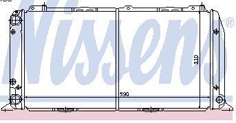 AUDI 80 РАДИАТОР ОХЛАЖДЕН (NISSENS) (aspherical) (см.каталог)